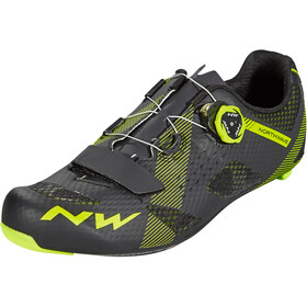 Northwave Storm Carbon kengät Miehet, black/yellow fluo